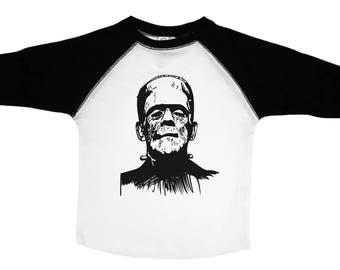 Frankenstein Kids Shirt, Frankenstein Toddler Tee, Kids Halloween Tshirt, Kids Halloween Shirt, Halloween Toddler Tee, Halloween Shirt