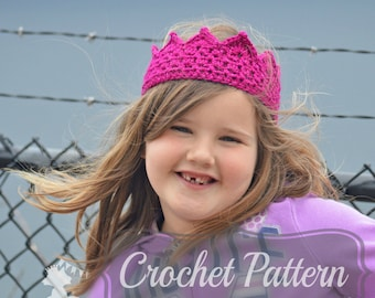 Crochet Pattern, Birthday Crown, Crochet Crown PDF, Birthday Hat Pattern, Princess Crown, Boys Crown Pattern,  PDF Pattern Crochet