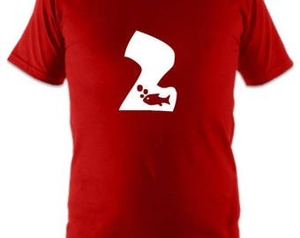 Number 2 Top T-shirt 2nd Second Birthday gift present kids boys girls party