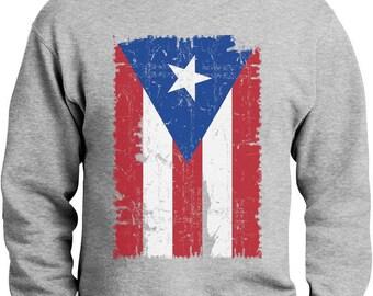 Vintage Distressed Puerto Rico Flag Sweatshirt