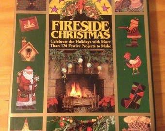 CHRISTMAS CRAFT BOOK / Vintage Craft Book / Fireside Christmas Craft Book