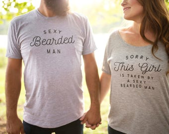 Couple Shirts - Honeymoon Shirts - Bride Shirts - Beard Shirt - Bride and Groom Shirts - Husband and Wife Shirts - Wifey Shirt - Hubby Shirt