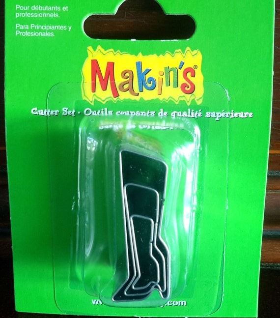 """3 piece, boot shape cutters, from the fashion collection of makins shape cutters in 3 sizes from 7/8"""" to 1-3/4"""" tall"""