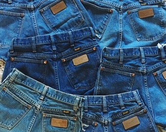 Vintage Wrangler Shorts Distressed Denim High Waisted