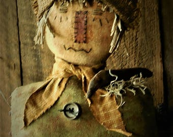 Primitive Grungy Fall/Autumn Scarecrow Sitter
