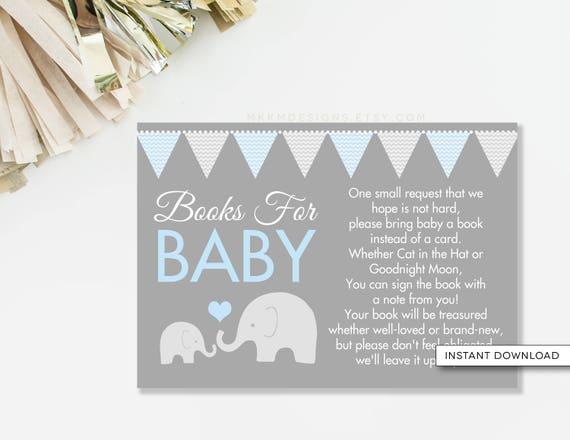 elephant book card bring a book card elephant baby shower book