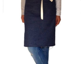 DENIM APRON - assorted colours, Cafe Apron, canvas apron, Work apron, men's apron, apron men, Waist Apron, men's kitchen Aprons, mens apron