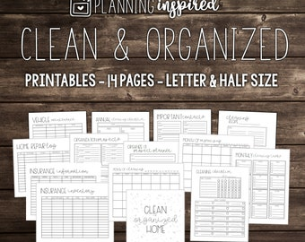 Cleaning Planner, Cleaning Checklist, Cleaning Schedule, House Cleaning Printables, Cleaning Routine Printables, Cleaning Checklists