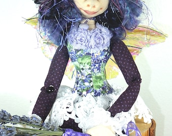 Art Doll-Mellie the Faery OOAK Cloth Doll