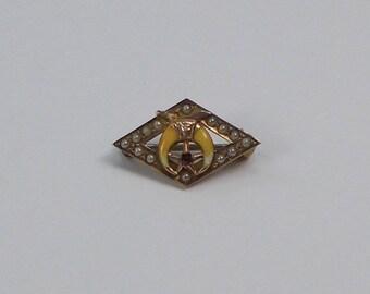 Tiny Vintage Shriners Lapel Pin  3150