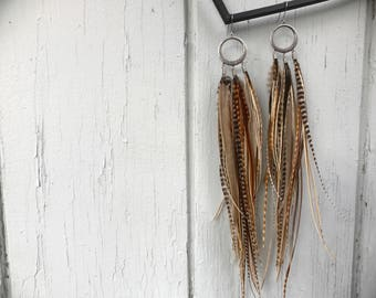 Cool Autumn Long Feather Earrings