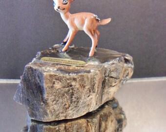 Vintage Petrified Wood Forest AZ Souvenir Deer Fawn Doe Nature Lover Retro Home Decor
