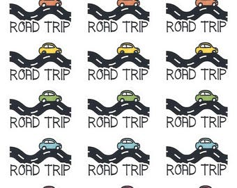 Road Trip    Planner Stickers