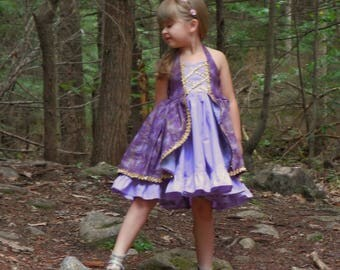 Rapunzel dress , princess dress, party dress , purple princess dress