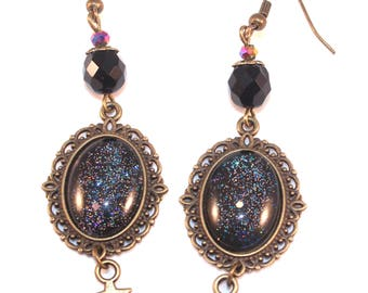 Earings glitter Galaxy and stars