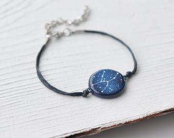 Taurus bracelet Zodiac bracelet Constellation gift May birthday gift Taurus constellation Taurus sign April horoscope Astronomy bracelet
