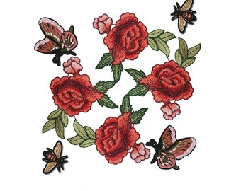 Embroidered Gucci Style Patches Appliques, Bee Patch, Butterfly Patch for Fashion Crafts 8 pcs