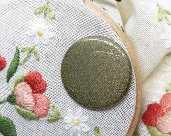 Embroidery Supplies - Cross Stitch - Needle Minder - Needle Holder - Needle Nanny - Needle Magnet - Needle Keeper-Gold Glitter Needle Minder