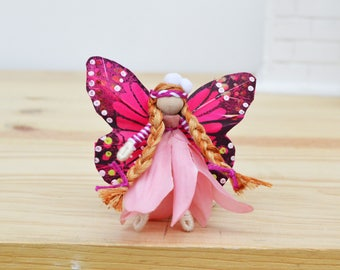 Spring Fairy Doll  - flower fairy doll, flower fairies, easter basket gift, miniature fairy doll, miniature fairies, mini fairy doll, OOAK