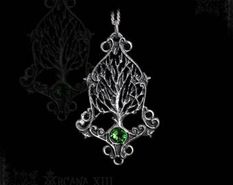 Elven tree of life, Tree of Gaia, viking Yggdrasil with swarovski or real gemstone