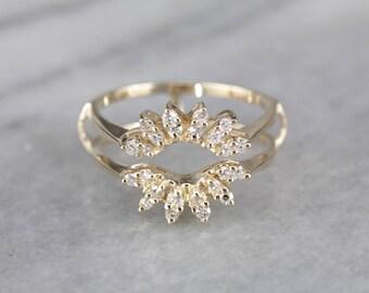 sunburst diamond halo wrap band diamond solitaire enhancer band anniversary ring wedding band - Wedding Ring Enhancer
