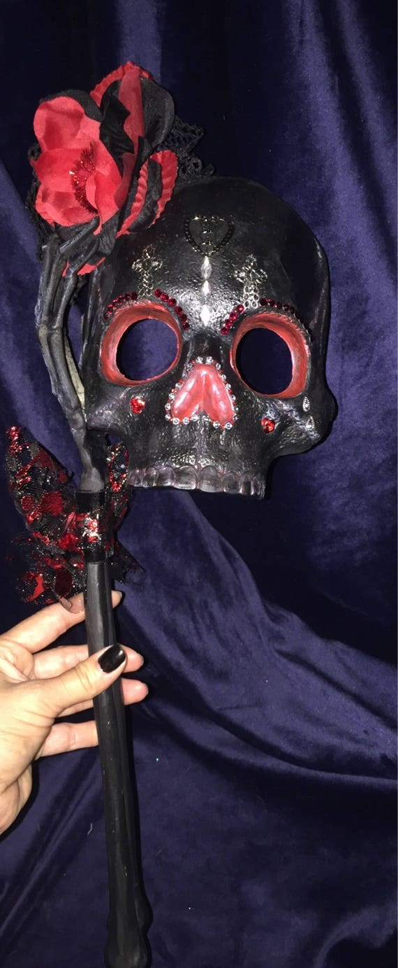 Reserved For Miss Heidi Only****Black Widow Original Sugar Skull Undead Masquerade Day Of The Dead Halloween Biohazard Baby Mask