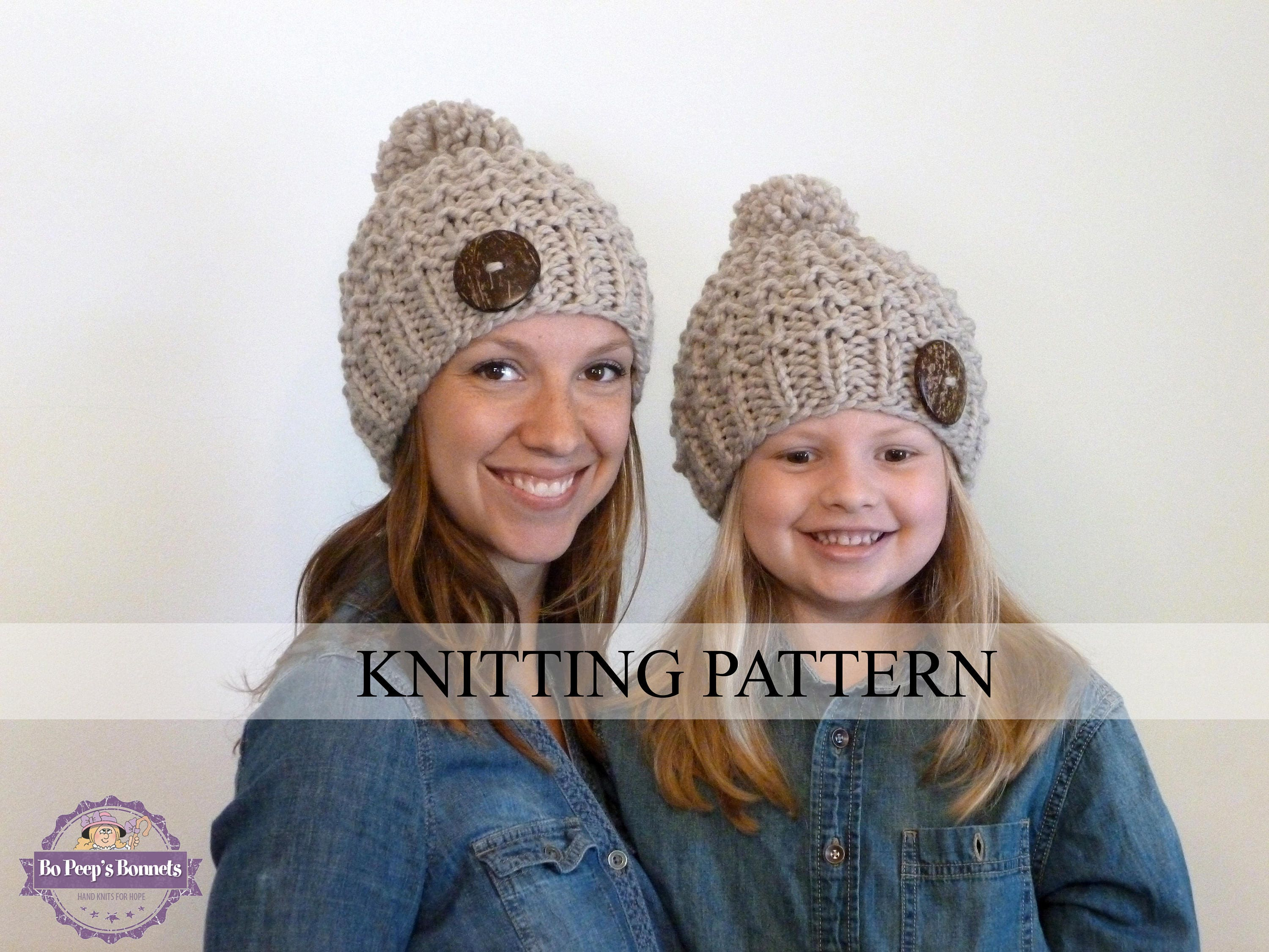 Knitting pattern mommy and me textured beanies toddler hat zoom bankloansurffo Gallery