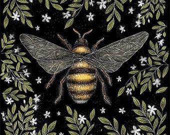 Honey Bee A4 Print