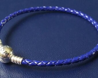 Pandora Moments 20cm ROYAL BLUE braided bracelet sterling silver