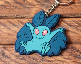 Cryptid Rubber Keychains - Mothman