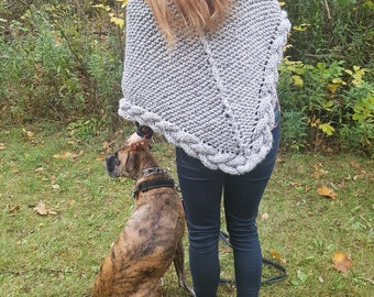 Eira Wrap/Shawl Knitting Pattern