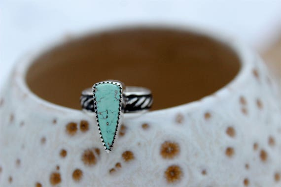 Carico Lake Turquoise Ring//Size 5.75 //Sterling Silver