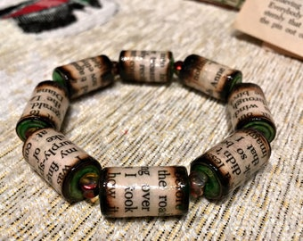 Anne of Green Gables Paper Bead Bracelet