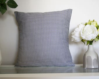 Black & White Houndstooth Decorative Cushion Cover