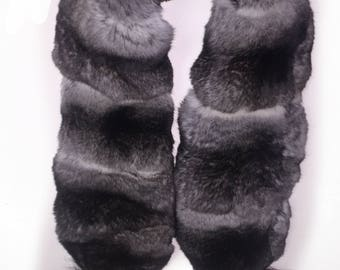 Real Fur Canadian |  Chinchilla Fur Scarf