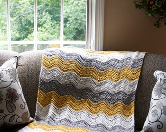 Laurel Creek Ripple Crochet Baby Blanket