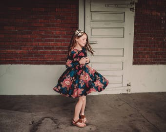 Girls Paisley Floral Bespoke Dress