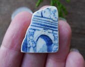 ARCH WITH COLUMNS / Pottery Shards/ Genuine Scottish Sea Pottery / Vintage Pottery