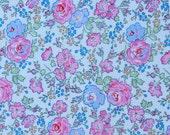 Liberty LONDON 2017 Classic print, Liberty Tana Lawn Felicite - 5'' x10'' piece - blue, pink, green