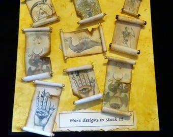 Miniature Rolled Parchments -  one inch scale - choose one (or more :))) )