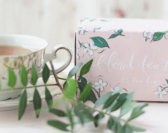Box of 15 cloud shaped tea bags - Silver