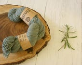 Wool 100g skein, DK, double knit, Blue Faced Leicester, hand dyed using black beans plant dyes, natural dyes, yarn, blue grey variegated