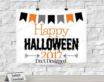 Happy Halloween Digital Print - Instant Download - All Hallows Eve - Trick or Treat - Photo Prop - DIY Print - {26HS}