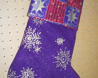 Christmas Stocking, lined with Hanger & Cuff