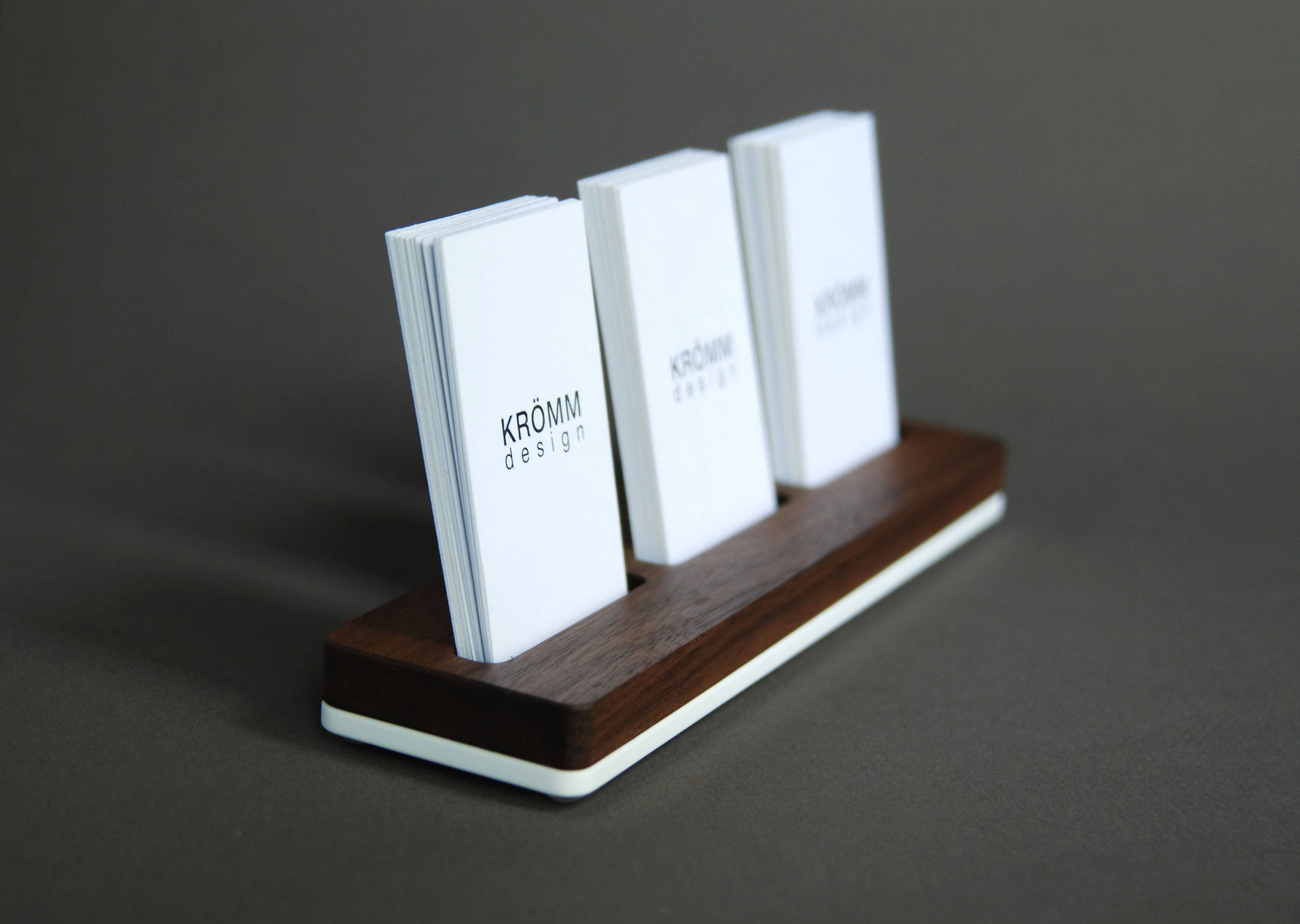 Wood Business Card Stand Multiple MOO Business Card Holder