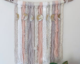Moon Phase Yarn Wall Hanging - Aphrodite