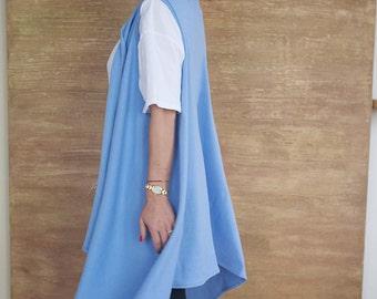 Plus Sizel Vest/Blue Vest/Maxi vest/ Loose Vest/Long Vest/Knitted Vest/Casual vest