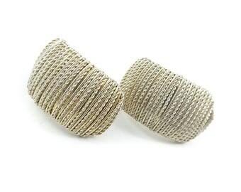 Vintage Wired Earrings, Clip Ons