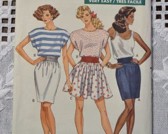 Butterick 6336 Sewing Pattern Misses Top and Skirt Size 12 14 16 DIY Vintage Clothing Fashion Sewing Crafts PanchosPorch