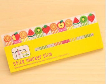 Assorted Fruit Post It Sticky Notes/Page Marker/Planner/Post It Notes/Journal/School Office Supplies/Flag Stickers/Agenda/Kawaii